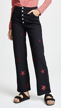 MiH Jeans Paradise Embroidered Jeans