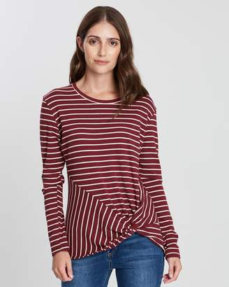 Privilege Twist Hem Top