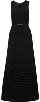 Tabula Rasa - Ottoman Cutout Open-knit Maxi Dress - Black