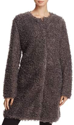 Via Spiga Reversible Lightweight Faux Fur Coat