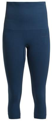 Falke - Ergonomic Cropped Performance Leggings - Womens - Navy
