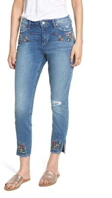 Lucky Brand Ava Embroidered Ankle Skinny Jeans