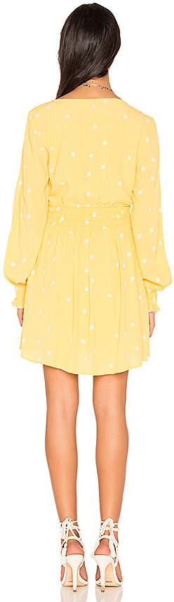 For Love & Lemons Chiquita Long Sleeve Dress in Yellow 3