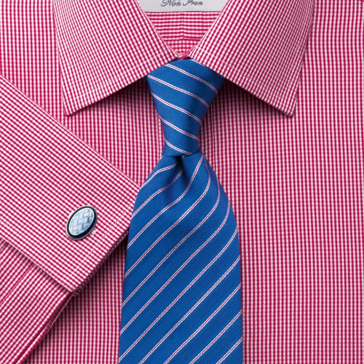 Pink Twill puppytooth non-iron classic fit shirt