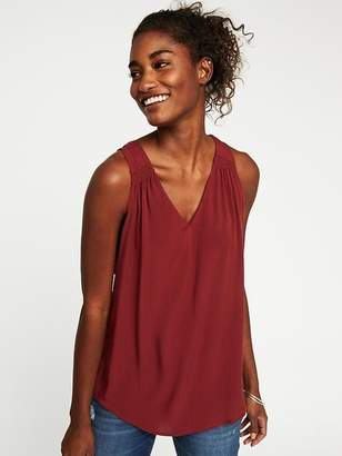 6177c3a2e2037 Old Navy Relaxed Cut-Out Back V-Neck Tank for Women