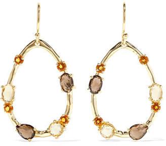 Ippolita Rock Candy 18-karat Gold, Citrine And Quartz Earrings