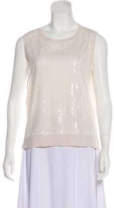Magaschoni Sequined Sleeveless Top