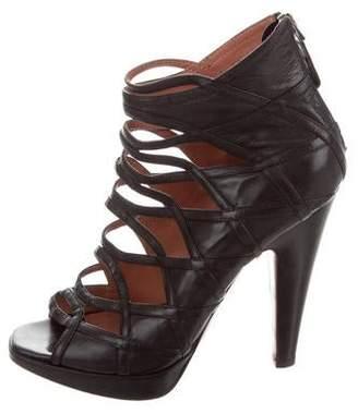 Alaia Peep-Toe Cage Ankle Boots