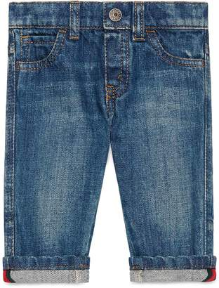 Baby washed denim pant $230 thestylecure.com