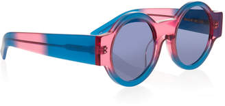 House of Holland Wideside Tropical Round Sunglasses