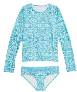Seafolly Ocean Tapestry Two-Piece Rashguard Swimsuit