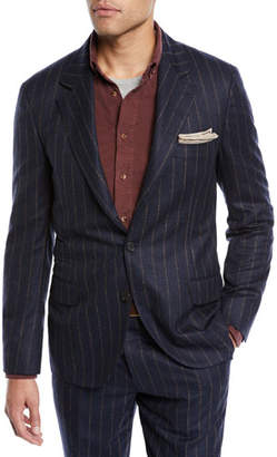 Brunello Cucinelli Men's Pinstripe Wool Two-Piece Suit