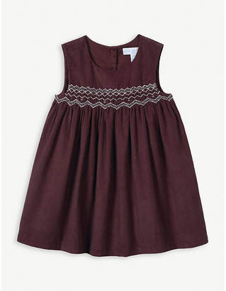 The Little White Company Smocked cotton-corduroy dress 0-24 months