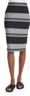 Elizabeth and James Aisling Striped Pencil Skirt, Black/White $295 thestylecure.com