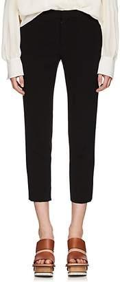 Chloé Women's Satin-Back Crepe Crop Trousers - Black