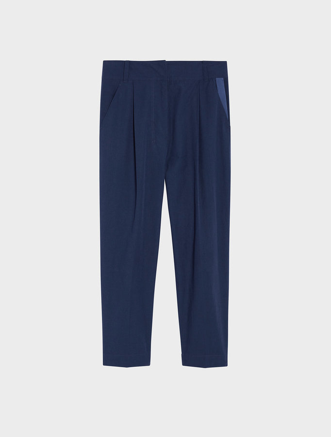 DKNY Dkny Pure Relaxed Front Pleat Tailored Cropped Pant