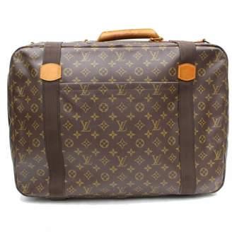 Louis Vuitton Vintage Brown Leather Travel Bag