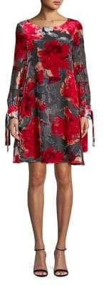 Taylor Floral Long-Sleeve Shift Dress