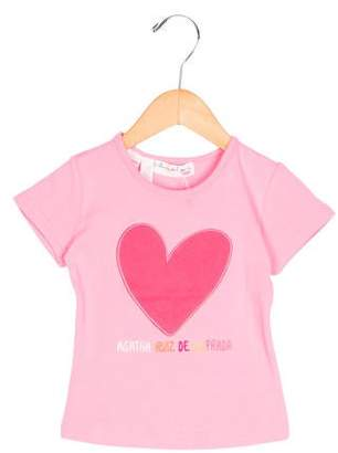 Agatha Ruiz De La Prada Girls' Embroidered Short Sleeve Top w/ Tags