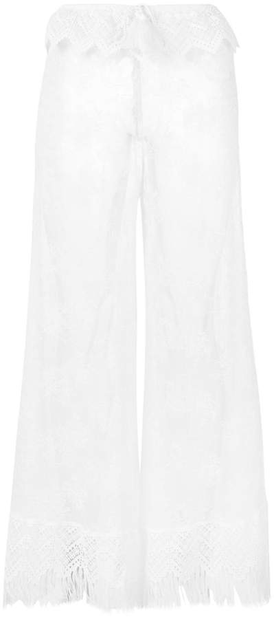 Ermanno Scervino sheer lace beach trousers