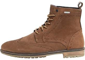 Mens Brad Brogue Stamford Boots Tan Suede