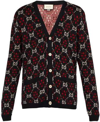 Gucci GG alpaca and wool-blend cardigan