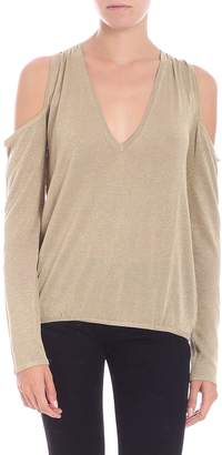 Patrizia Pepe Lurex Top With Cut-outs