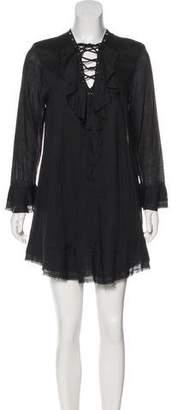 IRO Lace-Up Mini Dress