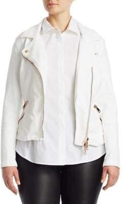 Marina Rinaldi Ashley Graham x Camogli Denim Zipper Jacket