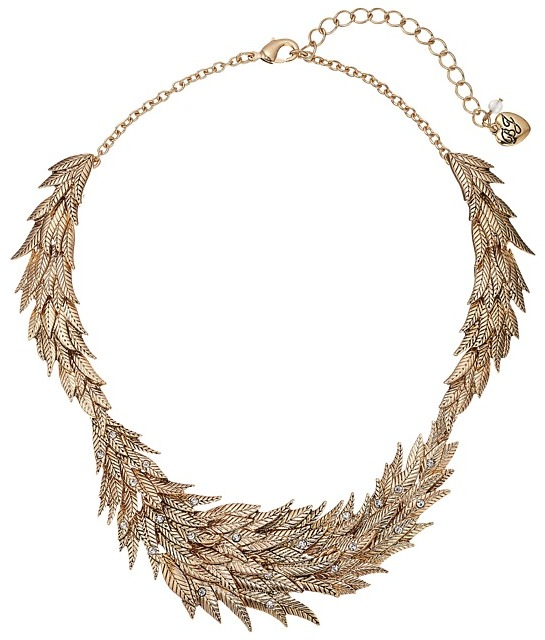 Betsey JohnsonBetsey Johnson - Crystal/Gold Feather Collar Necklace Necklace