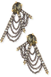 Alexis Bittar Draped Crystal Fringe Post Earrings