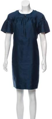 Burberry Silk-Wool Shift Dress