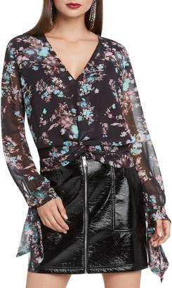 Willow & Clay Floral Print Ruched Top