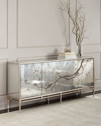 John-Richard Collection John Richard Collection Falling Branch Eglomise Console