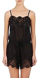 Dolce & Gabbana Women's Silk Chiffon & Lace Romper - Black