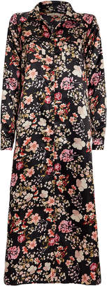 By Ti Mo Bytimo Floral Print Satin Shirt Dress