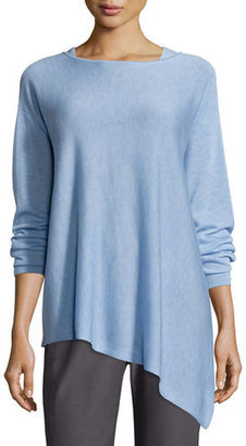 Eileen Fisher Merino-Knit Asymmetric Top, Petite $198 thestylecure.com