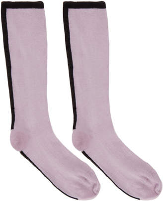 Haider Ackermann Purple Beryl Plain Socks