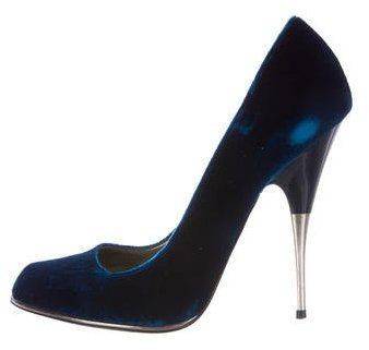 Stella McCartney Velvet Pointed-Toe Pumps