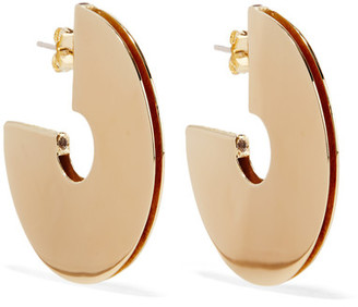 Elizabeth and James - Mair Gold-plated Topaz Hoop Earrings - one size $175 thestylecure.com