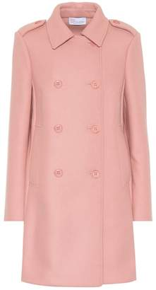RED Valentino Double-breasted wool-blend coat