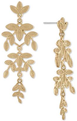 Rachel Roy Gold-Tone Leaf Chandelier Earrings
