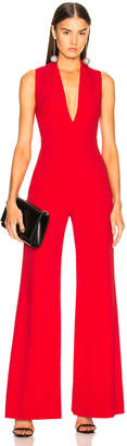 Brandon Maxwell Rolled Collar Jumpsuit