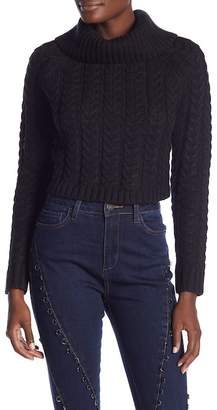 Wow Couture Cowl Neck Open Back Sweater