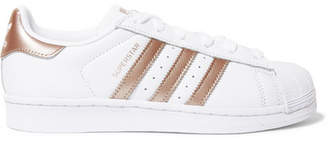 adidas Superstar Metallic-trimmed Leather Sneakers - White