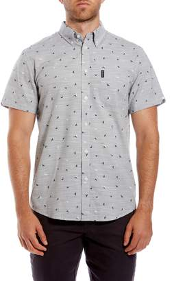 Ben Sherman Bird Print Short Sleeve Sport Shirt