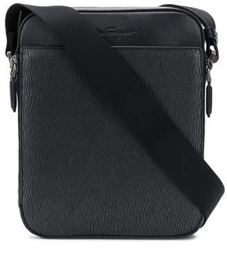Salvatore Ferragamo textured messenger bag