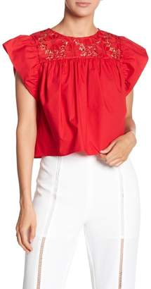 Endless Rose Cropped Baby Doll Blouse