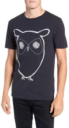 Knowledge Cotton Apparel KnowledgeCotton Apparel Big Owl Print T-Shirt