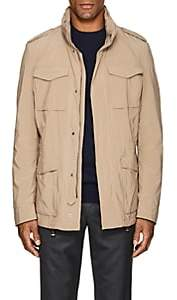 Herno MEN'S TECH-POPLIN FIELD JACKET-BEIGE, TAN SIZE S